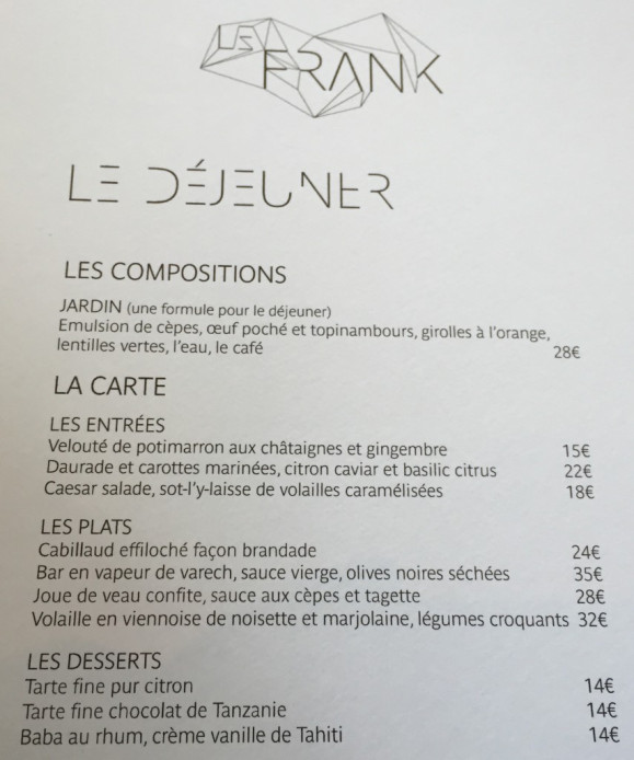 Restaurant Le Frank, Fondation Louis Vuitton